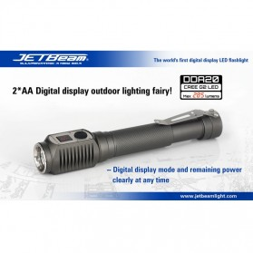JETBeam DDA20 Senter LED CREE G2 285 Lumens - Black
