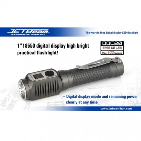 JETBeam DDC20 Senter LED CREE U2 500 Lumens - Black