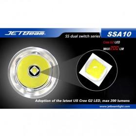 JETBeam SSA10 Senter LED CREE G2 200 Lumens - Black - 3