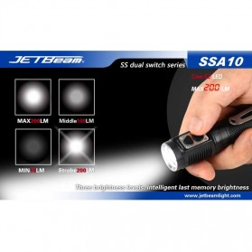 JETBeam SSA10 Senter LED CREE G2 200 Lumens - Black - 9