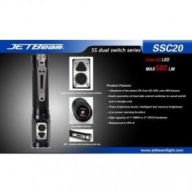 JETBeam SSC20 Senter LED CREE G2 580 Lumens - Black - 2