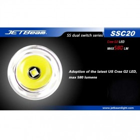 JETBeam SSC20 Senter LED CREE G2 580 Lumens - Black - 5