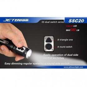 JETBeam SSC20 Senter LED CREE G2 580 Lumens - Black - 6