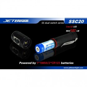 JETBeam SSC20 Senter LED CREE G2 580 Lumens - Black - 7