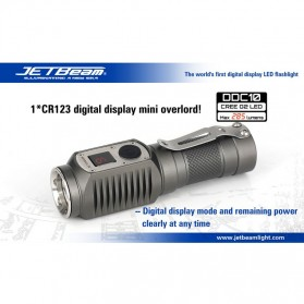 JETBeam DDC10 Senter LED CREE G2 285 Lumens - Black