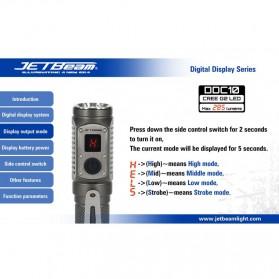 JETBeam DDC10 Senter LED CREE G2 285 Lumens - Black - 7