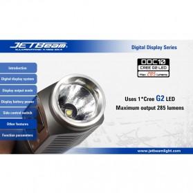 JETBeam DDC10 Senter LED CREE G2 285 Lumens - Black - 9
