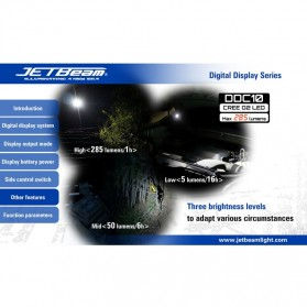 JETBeam DDC10 Senter LED CREE G2 285 Lumens - Black - 11