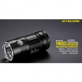 NITECORE TM06S Senter LED CREE XM-L2 U3 4000 Lumens - Black - 6