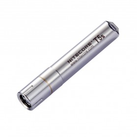 Nitecore T-Series T5S Stainless Steel LED CREE XP-G2 R5 70 Lumens Flashlight - Titanium Silver