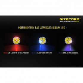 NITECORE MH27UV Ultraviolet Senter LED CREE XP-L HI V3 1000 Lumens - Black - 6
