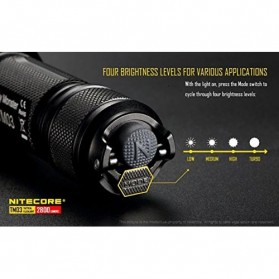 NITECORE TM03 Tiny Monster Senter LED CREE XHP70 2800 Lumens - Black - 5