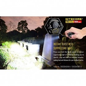 NITECORE TM03 Tiny Monster Senter LED CREE XHP70 2800 Lumens - Black - 6