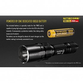 NITECORE TM03 Tiny Monster Senter LED CREE XHP70 2800 Lumens - Black - 7