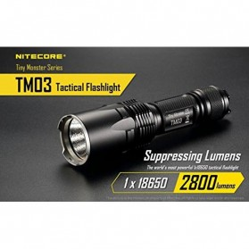 NITECORE TM03 Tiny Monster Senter LED CREE XHP70 2800 Lumens - Black - 8