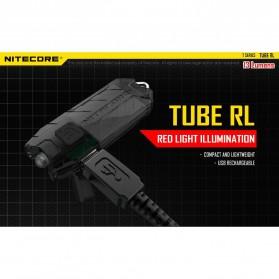 NITECORE TUBE RL RedLight USB Rechargeable Keychain Light - Black - 4