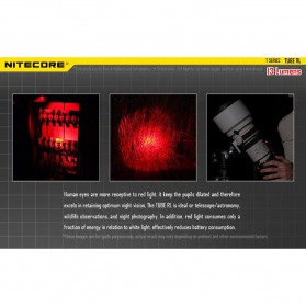 NITECORE TUBE RL RedLight USB Rechargeable Keychain Light - Black - 5