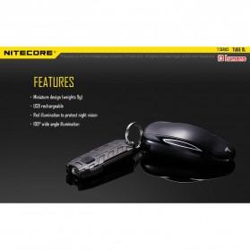 NITECORE TUBE RL RedLight USB Rechargeable Keychain Light - Black - 7