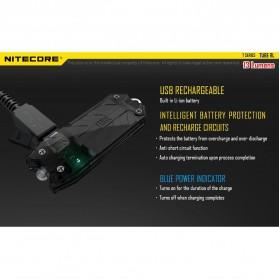NITECORE TUBE RL RedLight USB Rechargeable Keychain Light - Black - 8