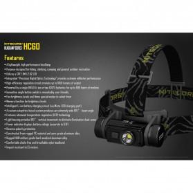 Nitecore HC60 Headlamp Series CREE XM-L2 U2 1000 Lumens - Black - 4