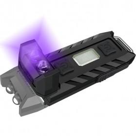 NITECORE Thumb LEO Senter LED USB Rechargeable 45 Lumens UV Light - Black - 1