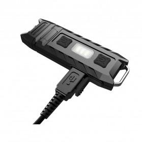 NITECORE Thumb LEO Senter LED USB Rechargeable 45 Lumens UV Light - Black - 3