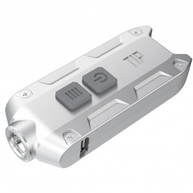 NITECORE TIP Senter LED Mini USB Rechargeable Cree XP-G2 S3 360 Lumens - Silver