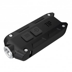 NITECORE TIP Senter LED Mini USB Rechargeable Cree XP-G2 S3 360 Lumens - Black