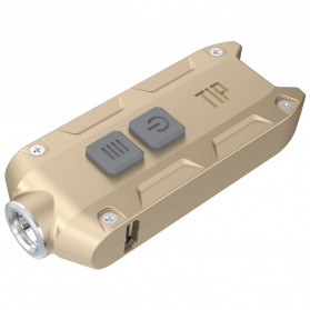 NITECORE TIP Senter LED Mini USB Rechargeable Cree XP-G2 S3 360 Lumens - Golden