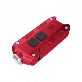 NITECORE TIP Senter LED Mini USB Rechargeable Cree XP-G2 S3 360 Lumens - Red