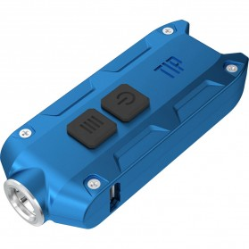 NITECORE TIP Senter LED Mini USB Rechargeable Cree XP-G2 S3 360 Lumens - Blue