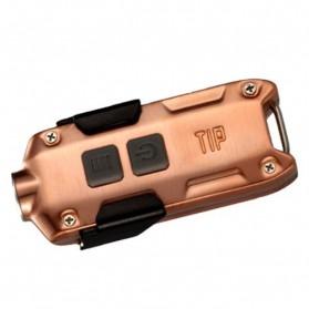 NITECORE TIP Senter LED Mini USB Rechargeable Cree XP-G2 S3 360 Lumens - Copper