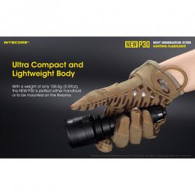 NITECORE New P30 Senter LED Cree XP-L HI V3 1000 Lumens - Black - 8