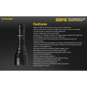 NITECORE New P30 Senter LED Cree XP-L HI V3 1000 Lumens - Black - 10