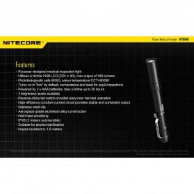 NITECORE MT06MD Senter LED Nichia 219B 180 Lumens - Black - 8