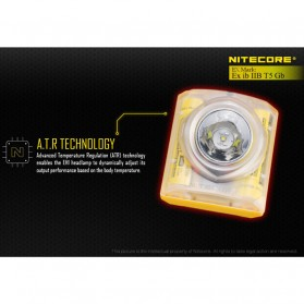 NITECORE EH1 Headlamp Senter LED CREE XP-G2 S3 260 Lumens - Yellow - 9