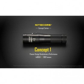 NITECORE Concept 1 Senter LED CREE XHP35 1800 Lumens - Black - 7