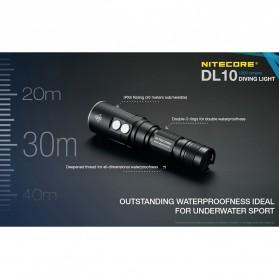 Nitecore Diving Light Senter LED CREE XP-L HI V3 1000 Lumens - DL10 - Black - 3