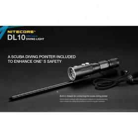 Nitecore Diving Light Senter LED CREE XP-L HI V3 1000 Lumens - DL10 - Black - 4