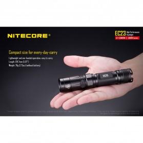 Nitecore EC23 Senter LED CREE XHP35 HD E2 1800 Lumens - Black - 6
