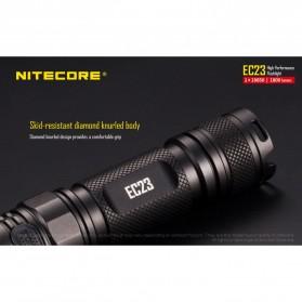 Nitecore EC23 Senter LED CREE XHP35 HD E2 1800 Lumens - Black - 7