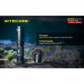 Nitecore EC23 Senter LED CREE XHP35 HD E2 1800 Lumens - Black - 8