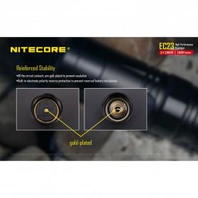 Nitecore EC23 Senter LED CREE XHP35 HD E2 1800 Lumens - Black - 9
