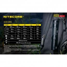 Nitecore EC23 Senter LED CREE XHP35 HD E2 1800 Lumens - Black - 10