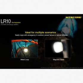 NITECORE USB Rechargeable Pocket Camping Lantern - LR10 - Black - 5