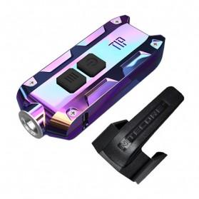 NITECORE TIP SS Senter LED Mini USB Rechargeable Cree XP-G2 S3 360 Lumens - Blue
