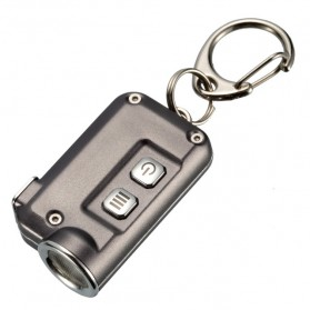 NITECORE Tini Senter LED CREE XP-G2 S3 380 Lumens USB Rechargeable Keychain - Gray