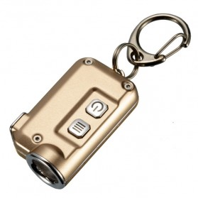 NITECORE Tini Senter LED CREE XP-G2 S3 380 Lumens USB Rechargeable Keychain - Golden