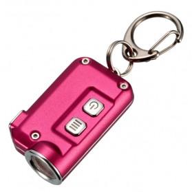NITECORE Tini Senter LED CREE XP-G2 S3 380 Lumens USB Rechargeable Keychain - Rose