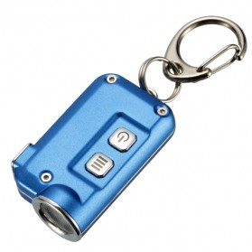 NITECORE Tini Senter LED CREE XP-G2 S3 380 Lumens USB Rechargeable Keychain - Blue